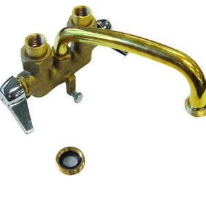 Rough Brass Two Handle Laundry Tray Faucet, Top Supply