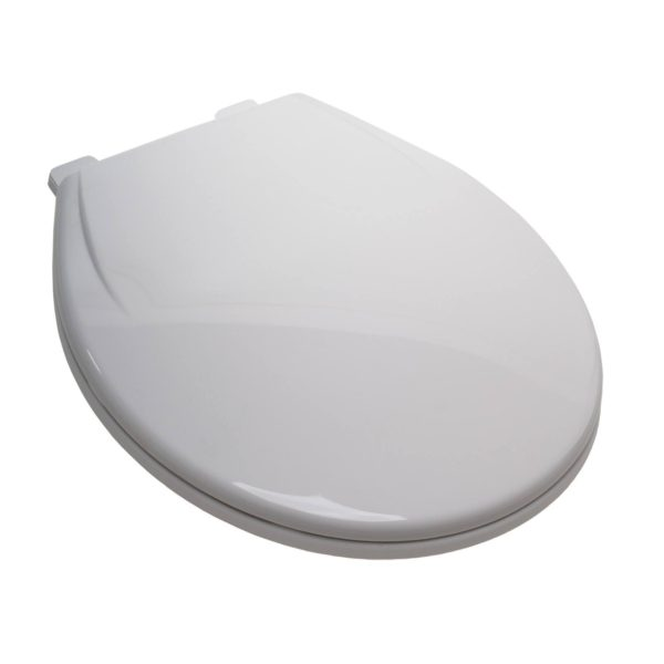 EZ Close® Standard Plastic Seat, White, Round Closed Front with Cover