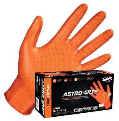 SAS 66573 Astro-Grip Powder-Free Large Nitrile Gloves (100 Per Box!)